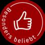 Button besonderBeliebt Dunkelrot web 170px